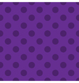 Polka dots seamless pattern purple vector image