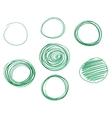 Set of Hand drawn circles logo design vector image