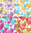 set Seamless pattern with hearts decorative vector image
