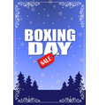vintage boxing day design vector image