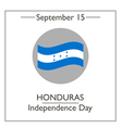 Honduras Independence Day vector image