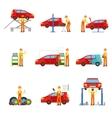 Car Repair Shop Services Set Of vector image