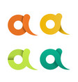 set isolated letter a logo icon design vector image