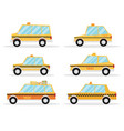 taxi car set flat design vector image