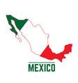 Flag and map of mexico vector image