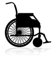 wheelchair 02 vector image