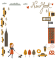 Frame design with NYC vector image