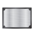 stainless steel metal plate for your text for your vector image