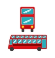 bus concept isolated design vector image