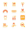Dental set - JUICY series vector image