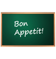 Bon Appetite sign vector image vector image