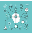Artificial Intelligence and Data Science vector image vector image