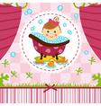 baby girl in bath vector image