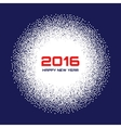 Blue- White New Year 2016 Snow Flake Background vector image