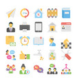 business flat colored icons 13 vector image