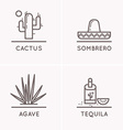 Mexico culture set 1 vector image