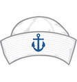 Sailor hat vector image