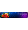 christmas banner1 vector image vector image