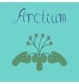 flat stylish background plant Arctium vector image