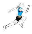 Isolated fitness person vector image