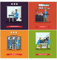 set of research laboratories posters vector image