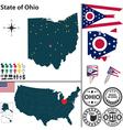 Map of Ohio vector image