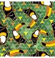 Seamless exotic brazil toucan bird background vector image