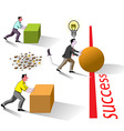 success brain works vector image vector image