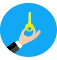 hand hold key vector image