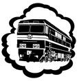 Railway locomotive vector image vector image