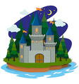 Castle on the island vector image