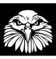 Eagle isolated on black background Flat vector image vector image