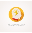 Brain Storming Icon Flat design style with long vector image