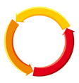 colorful cycle circle diagram icon cartoon style vector image
