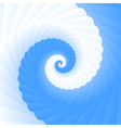 Double colored twirl - white and blue vector image