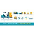 Freight cargo delivery vector image