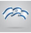 Israeli waving Flag vector image
