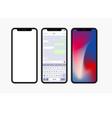 modern concept smartphone set on white vector image