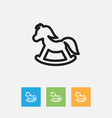 of kin symbol on toy horse vector image