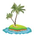 Palm Tree on Island5 vector image