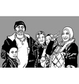 Refugees Group vector image