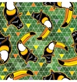 Seamless exotic brazil toucan bird background vector image