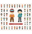 Set of winter collection character vector image