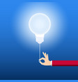 turn on creative light bulb concept vector image