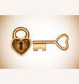 lock and key in flat style padlock with key vector image