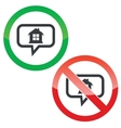 House message permission signs vector image