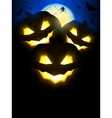 Halloween Pumpkins Background vector image