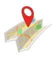 Map cartoon icon vector image