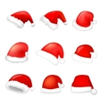 Set of santa hat vector image