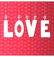 background with paper letters love vector image